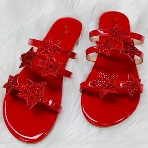 NEW in Box Red Star Flats / Slides/ Sandals 8